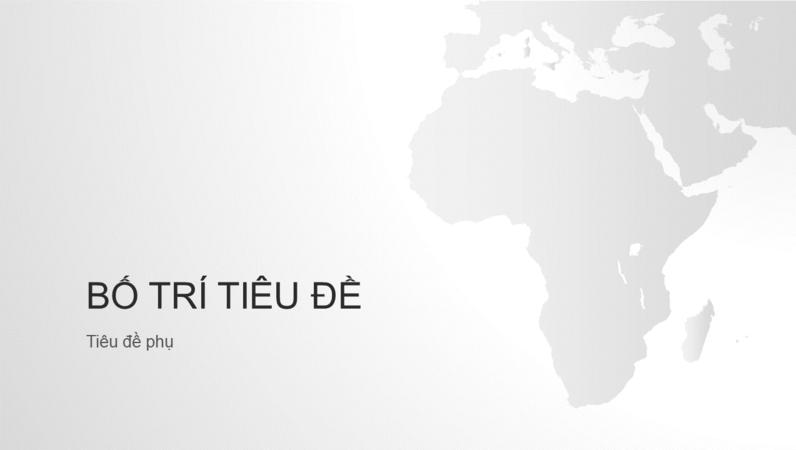 Chuỗi bản đồ thế giới, bản trình bày lục địa châu Phi (màn hình rộng)
