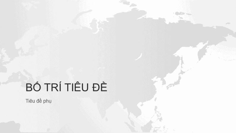 Chuỗi bản đồ thế giới, bản trình bày lục địa châu Á (màn hình rộng)