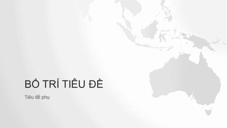 Chuỗi bản đồ thế giới, bản trình bày lục địa châu Úc (màn hình rộng)