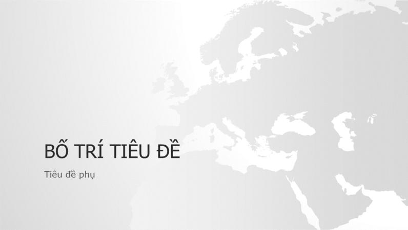 Chuỗi bản đồ thế giới, bản trình bày lục địa châu Âu (màn hình rộng)