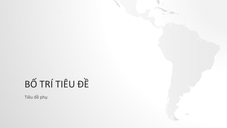 Chuỗi bản đồ thế giới, bản trình bày lục địa Nam Mỹ (màn hình rộng)
