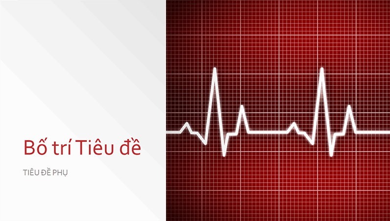 Bản trình bày thiết kế y tế (màn hình rộng)