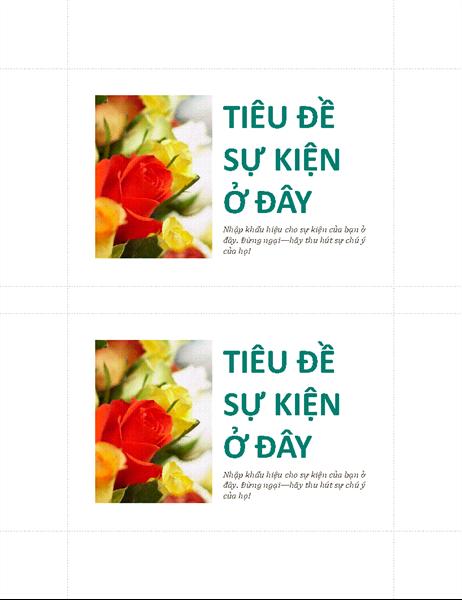 Bưu thiếp sự kiện dành cho doanh nghiệp (2 bưu thiếp/trang)