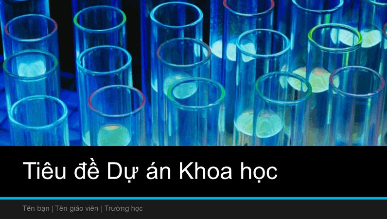Bản trình bày dự án khoa học (màn hình rộng)