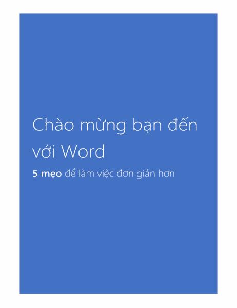 Chào mừng bạn đến với Word 2013