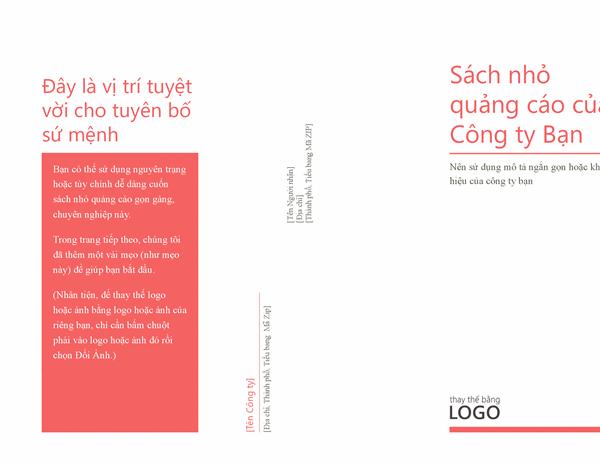 Sách nhỏ quảng cáo của Công ty