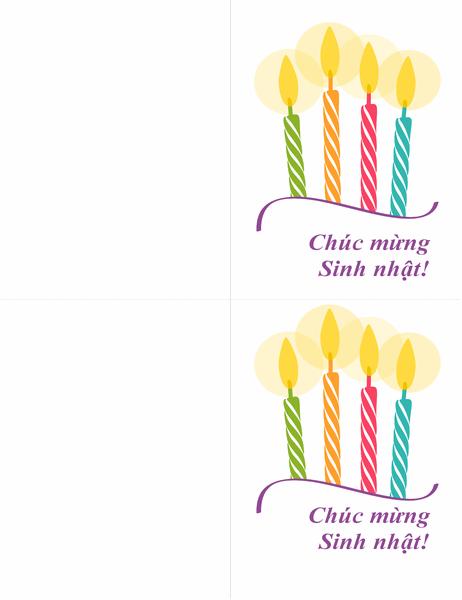 Thiệp sinh nhật (2 thiệp trên một trang)