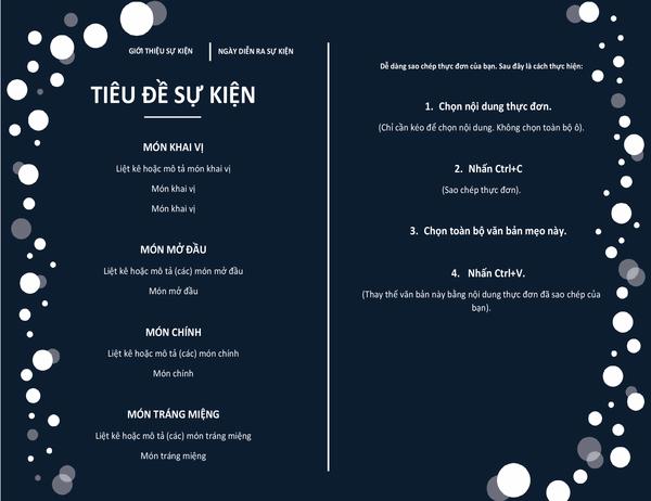 Menu (Thiết kế Bữa tiệc tinh tế)