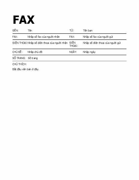 Bìa fax in đậm