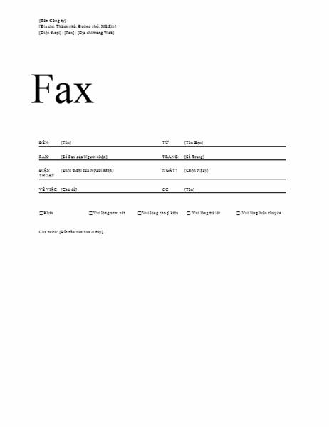 Tờ thông tin bản fax