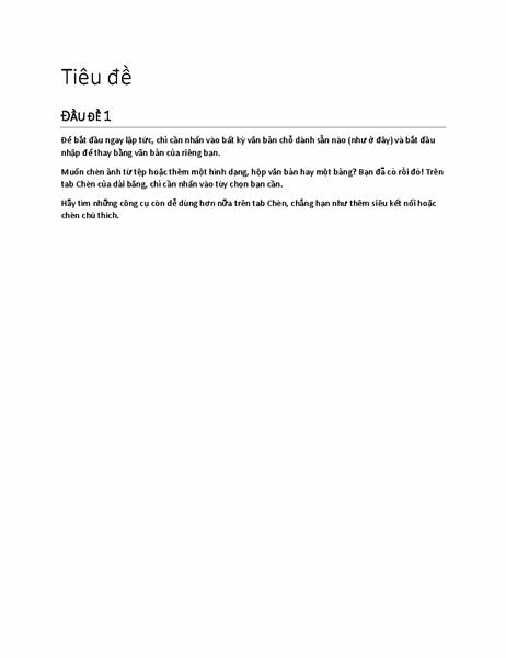 Thiết kế báo cáo (trống)