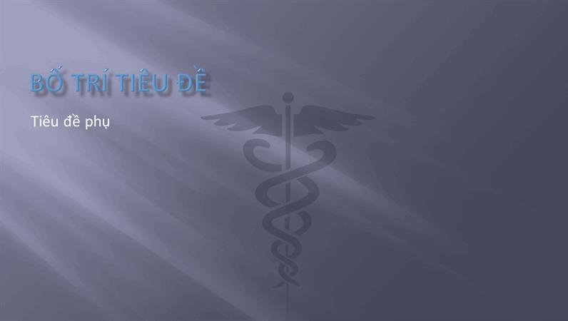 Trang chiếu thiết kế trình bày y tế