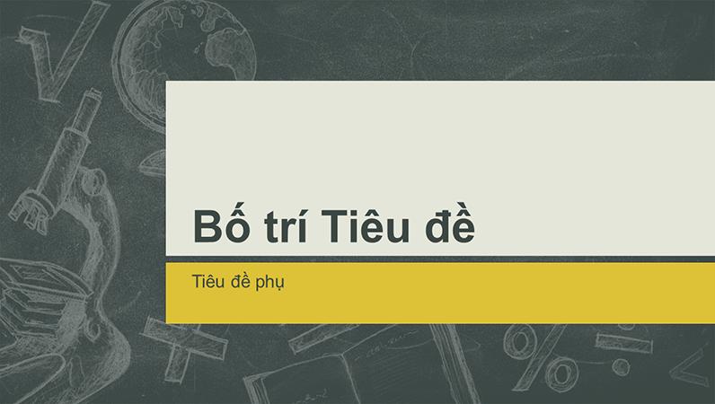 Thiết kế minh họa trên bảng đen, bản trình bày chủ đề giáo dục (màn hình rộng)