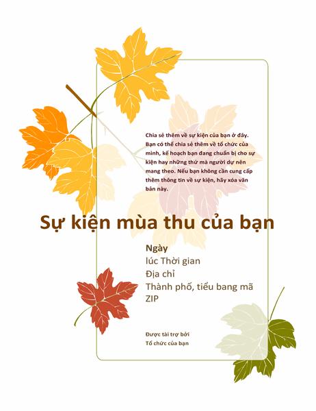 Tờ bướm sự kiện mùa thu (có lá cây)