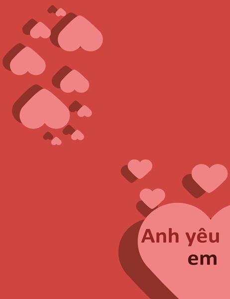 Thiếp Anh yêu em (gập tư)