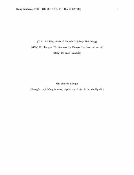 Báo cáo kiểu APA (phiên bản thứ 6)