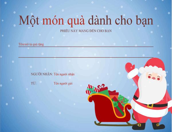 Phiếu quà tặng Giáng sinh (Thiết kế mang không khí Giáng sinh)