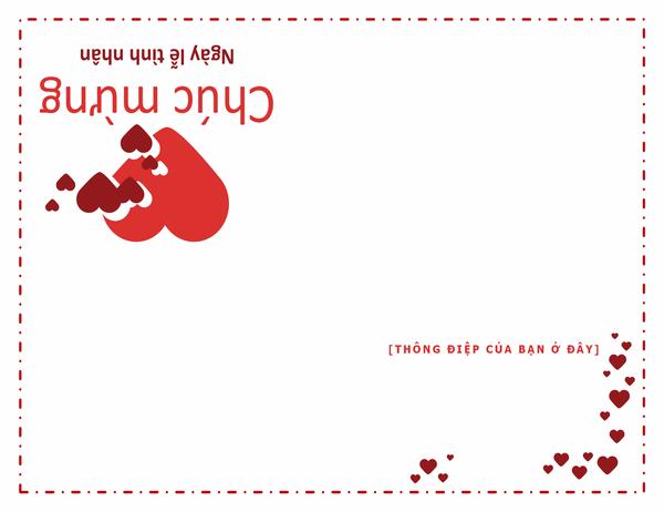 Thiếp Ngày lễ tình nhân (gập tư)