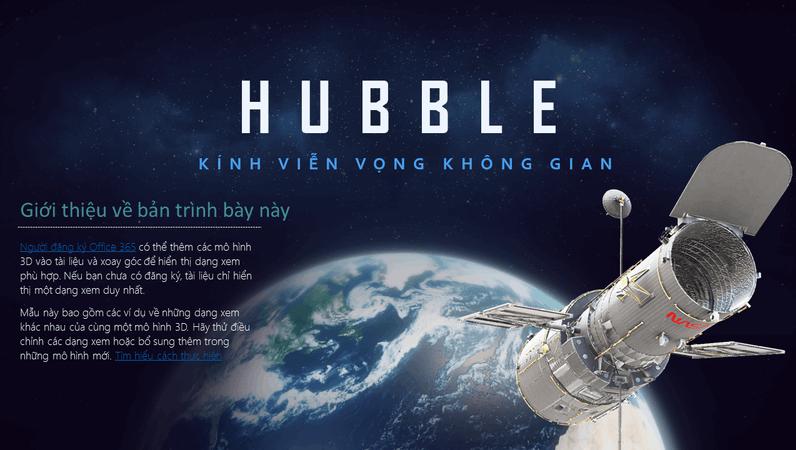 Bản trình bày PowerPoint 3D (Mô hình Kính thiên văn Hubble)