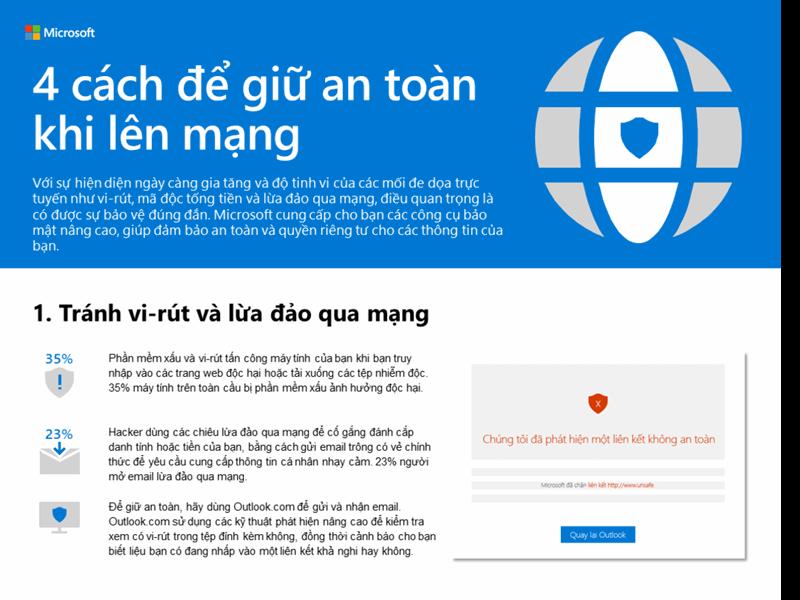 4 cách để giữ an toàn trực tuyến