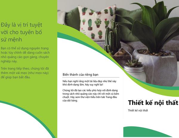 Sách nhỏ quảng cáo thiết kế nội thất