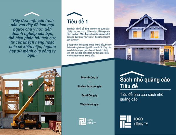 Sách nhỏ quảng cáo dành cho nhà xây dựng