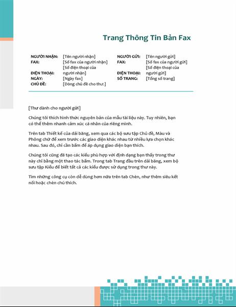 Thông tin bản fax với kỹ thuật tối giản