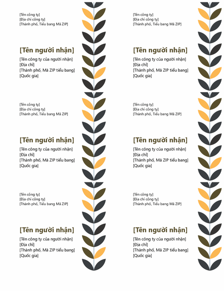 Nhãn cây leo (6 nhãn mỗi trang)