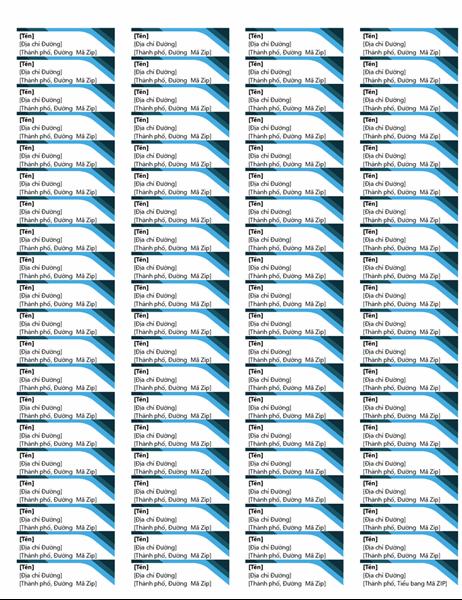 Nhãn màu lam (80 nhãn mỗi trang)