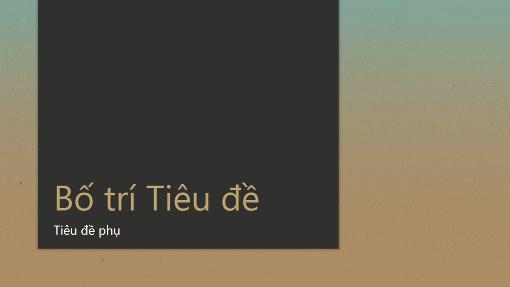 Bản trình bày có Màu chuyển giữa Xanh dương - Vàng nhạt (màn hình rộng)