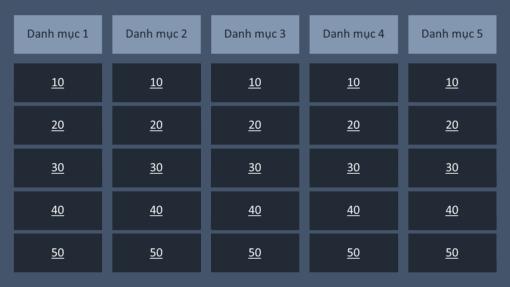 Trò chơi đố vui (nền Q và A, màn hình rộng)