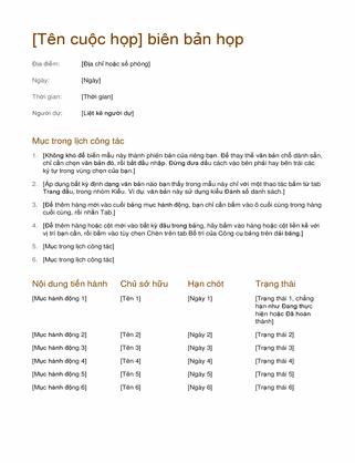Biên bản họp (đơn giản)