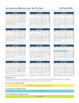Lịch niên học 2017-2018
