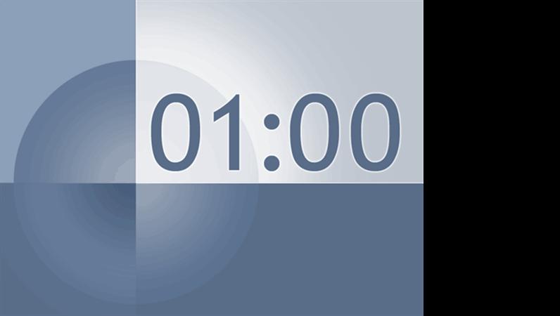 一分钟定时幻灯片(蓝灰色设计)
