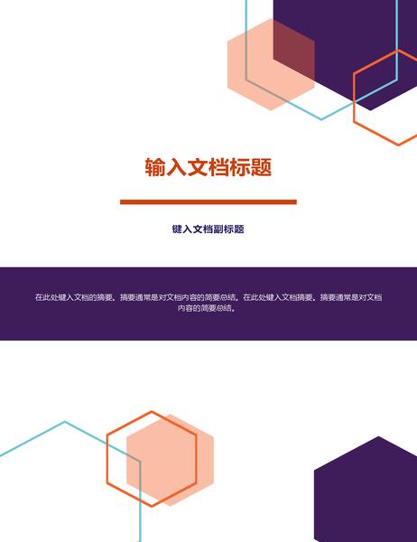 报告(行政风格设计)
