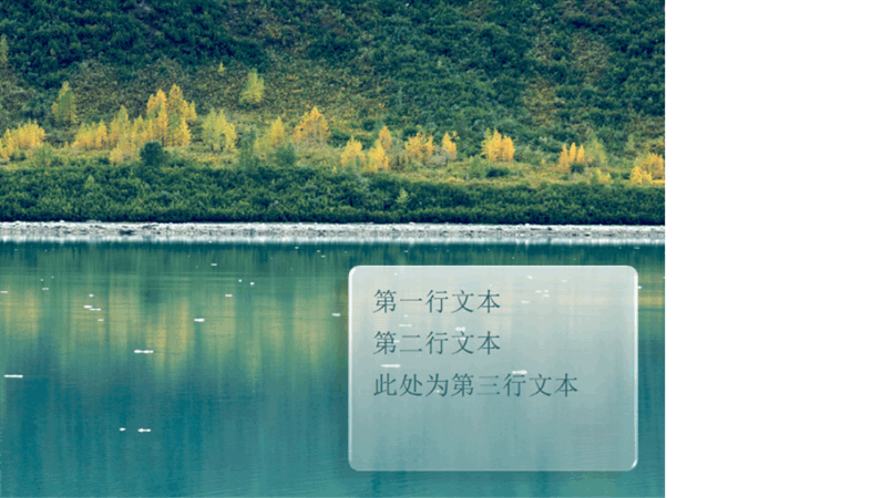 动画字幕逐渐呈现在森林背景上