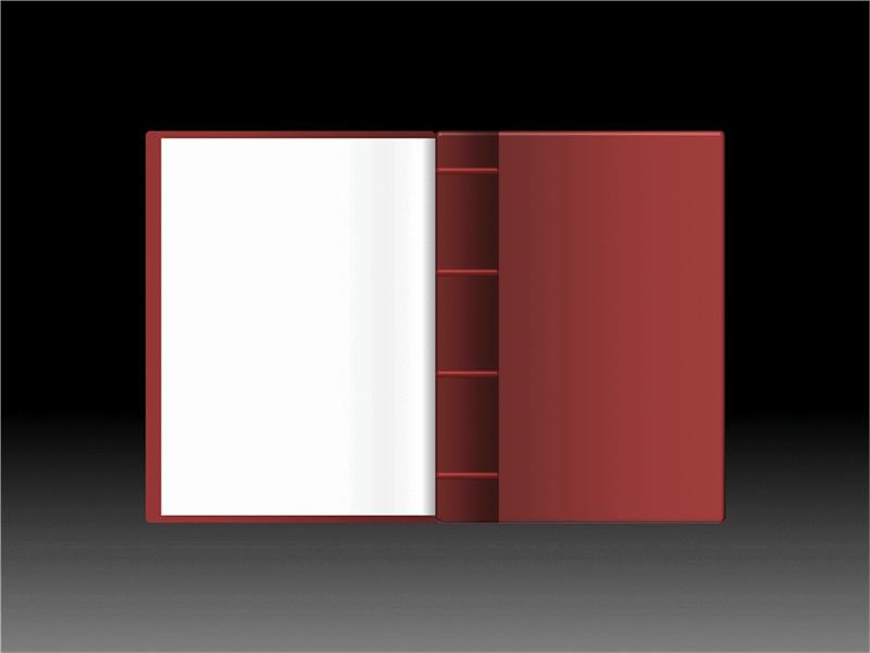 打开书本动画效果
