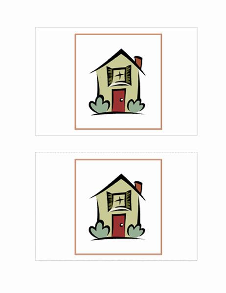 地址变更明信片(带插图)