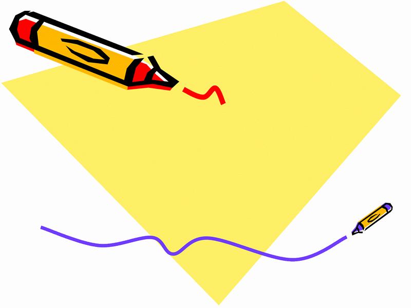 蜡笔画设计模板