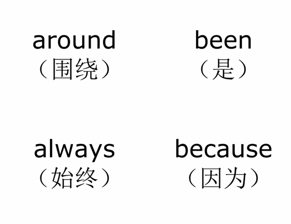 词汇表教学卡片(Dolch 第二类常用单词;与 Avery 3263、8387 配套使用)