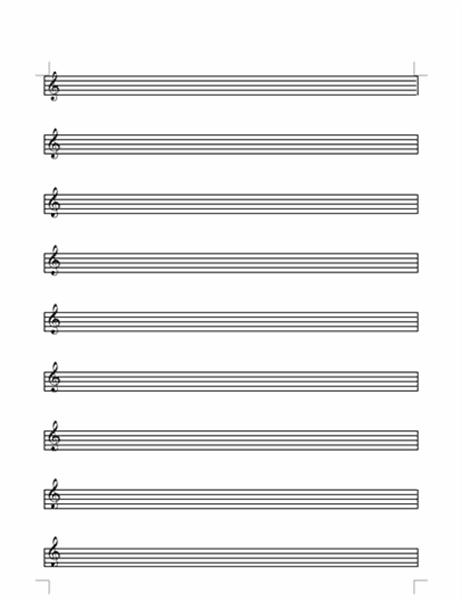 高音谱号五线谱(9 行)