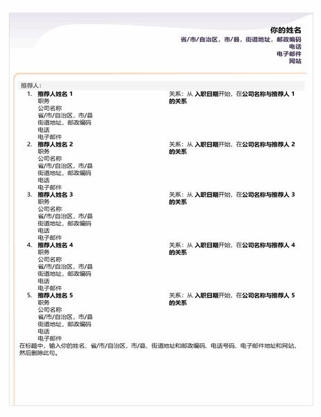 初级简历参考表