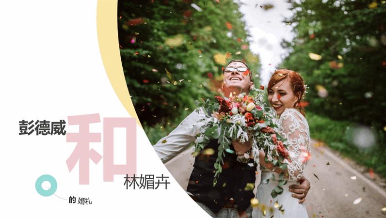 时尚的结婚相册