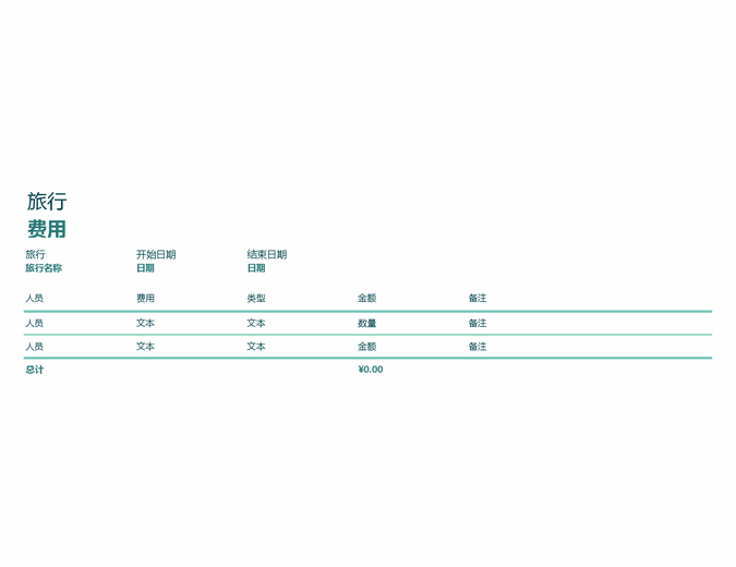 旅行费跟踪表
