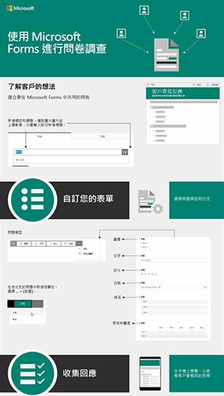 使用 Microsoft Forms 進行客戶問卷調查