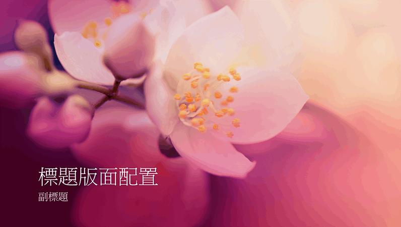 櫻花自然簡報 (寬螢幕)