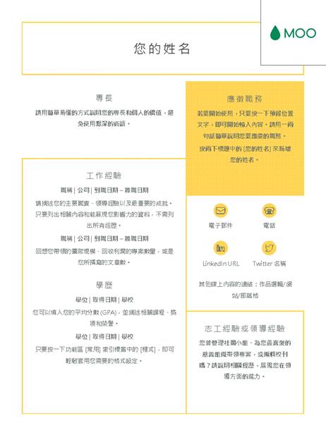 簡明履歷表 (由 MOO 設計)