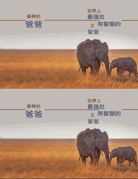 聰明大象父親節卡片